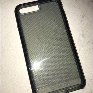 Black Evo Check Tech21 Iphone 7/8 Plus case